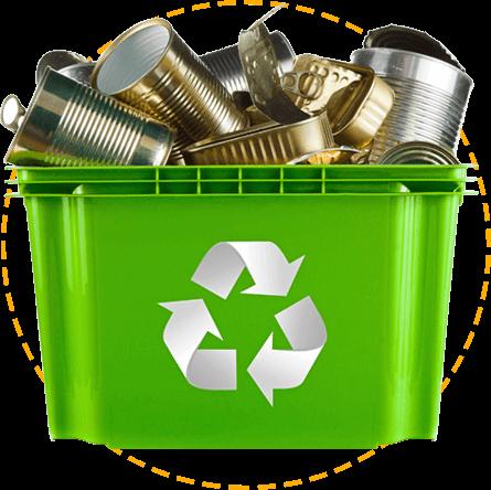 image of a green waste bin