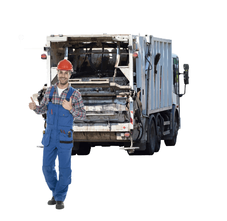 image of a man handling rubbish