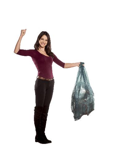 image of a woman handling rubbish