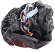 image of stacked trash